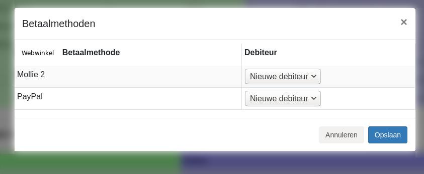 Dashboard Booq Reeleezee inrichten betaalmethoden